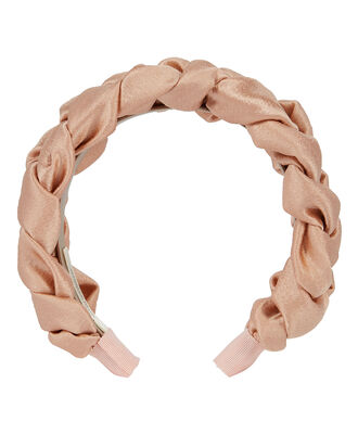 Lorelei Hammered Silk Headband, BLUSH, hi-res