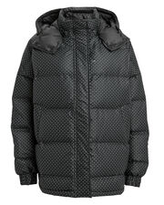 Tech Polka Dot Puffer, BLACK/WHITE, hi-res