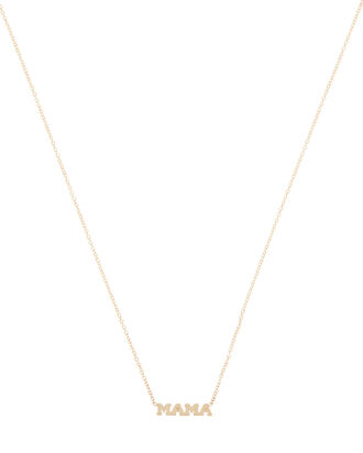 Itty Bitty Mama Necklace, GOLD, hi-res