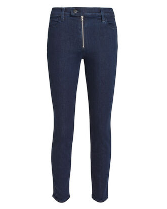 Alana Exposed Zip Skinny Jeans, DENIM-DRK, hi-res