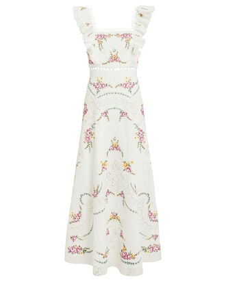 Allia Cross Stitch Dress, IVORY, hi-res
