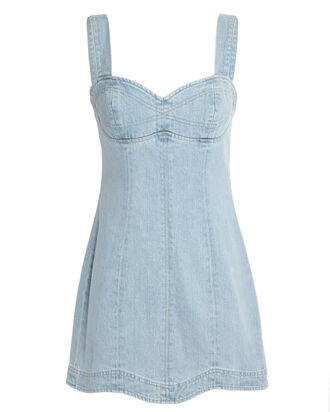 Eliana Denim Mini Dress, FAST HEARTS, hi-res