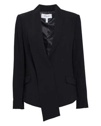 Telma Asymmetrical Shawl Collar Blazer, BLACK, hi-res