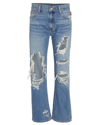 Joni Distressed Straight-Leg Jeans, LIGHT WASH DENIM, hi-res