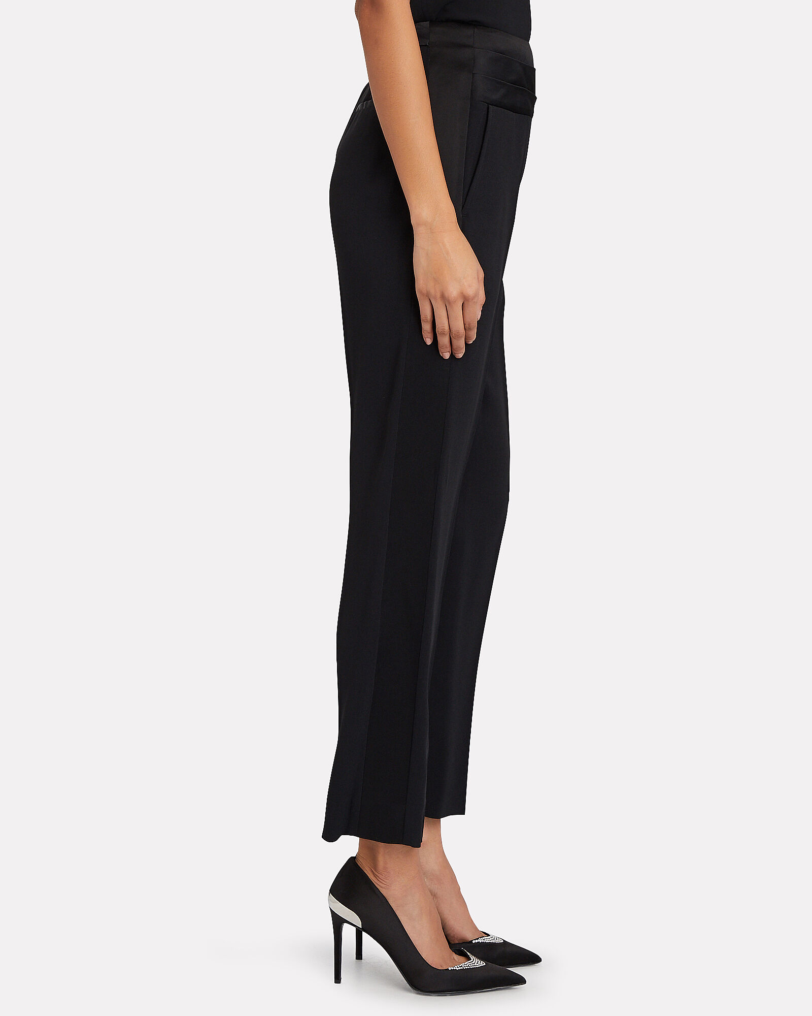 High-Rise Tuxedo Pants, BLACK, hi-res