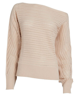 Louise Off-The-Shoulder Sweater, BLUSH, hi-res