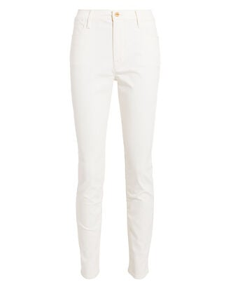 Le High Coated Skinny Jeans, OFF WHITE, hi-res