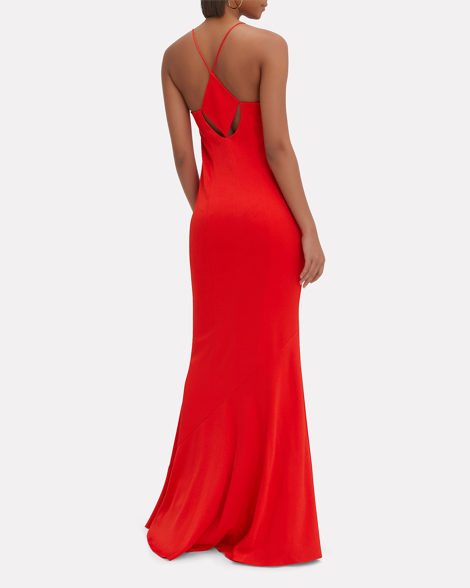 Diamond Cutout Red Dress, RED, hi-res