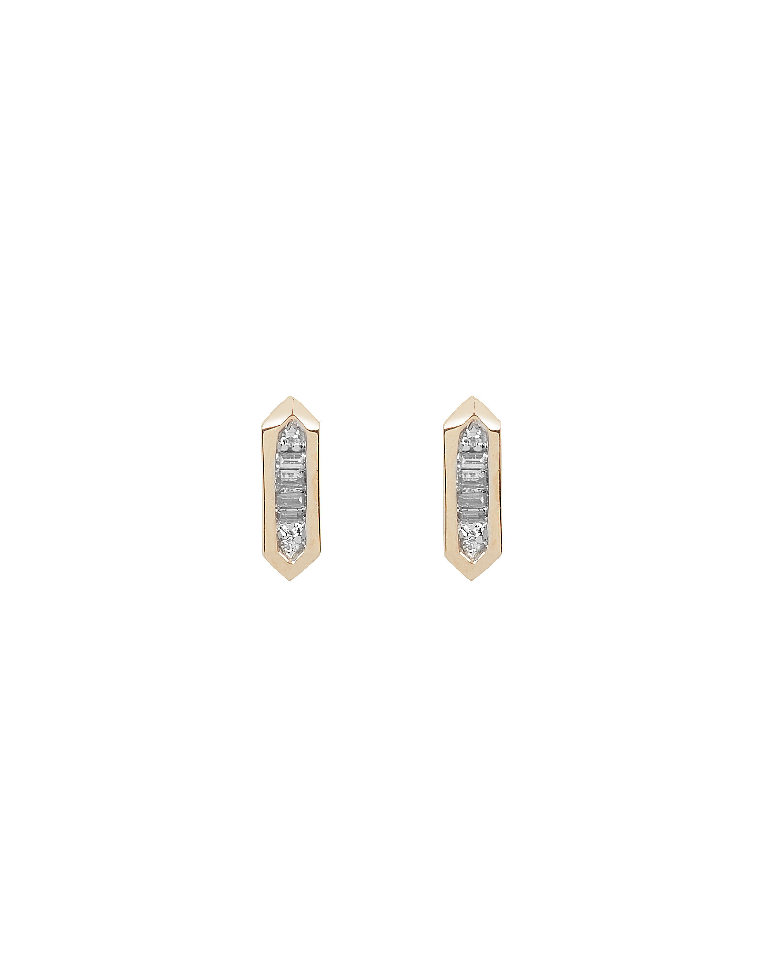 Baguette Bar Post Earrings, GOLD, hi-res