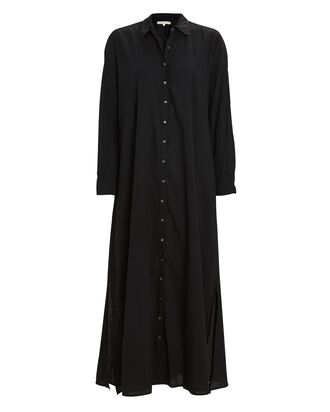 Boden Cotton Midi Shirt Dress, BLACK, hi-res