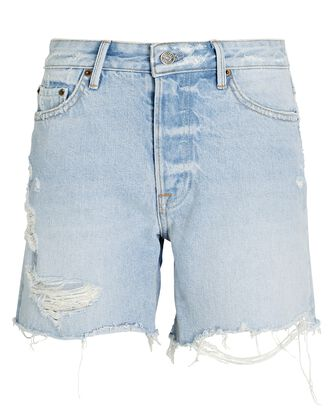 Jourdan Cut-Off Denim Shorts, DENIM-LT, hi-res