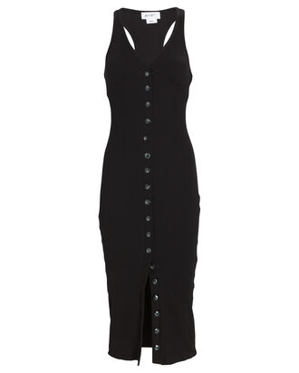 Harper Sleeveless Rib Knit Dress, BLACK, hi-res