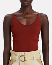 Ava Knit Tank Top, RED-DRK, hi-res