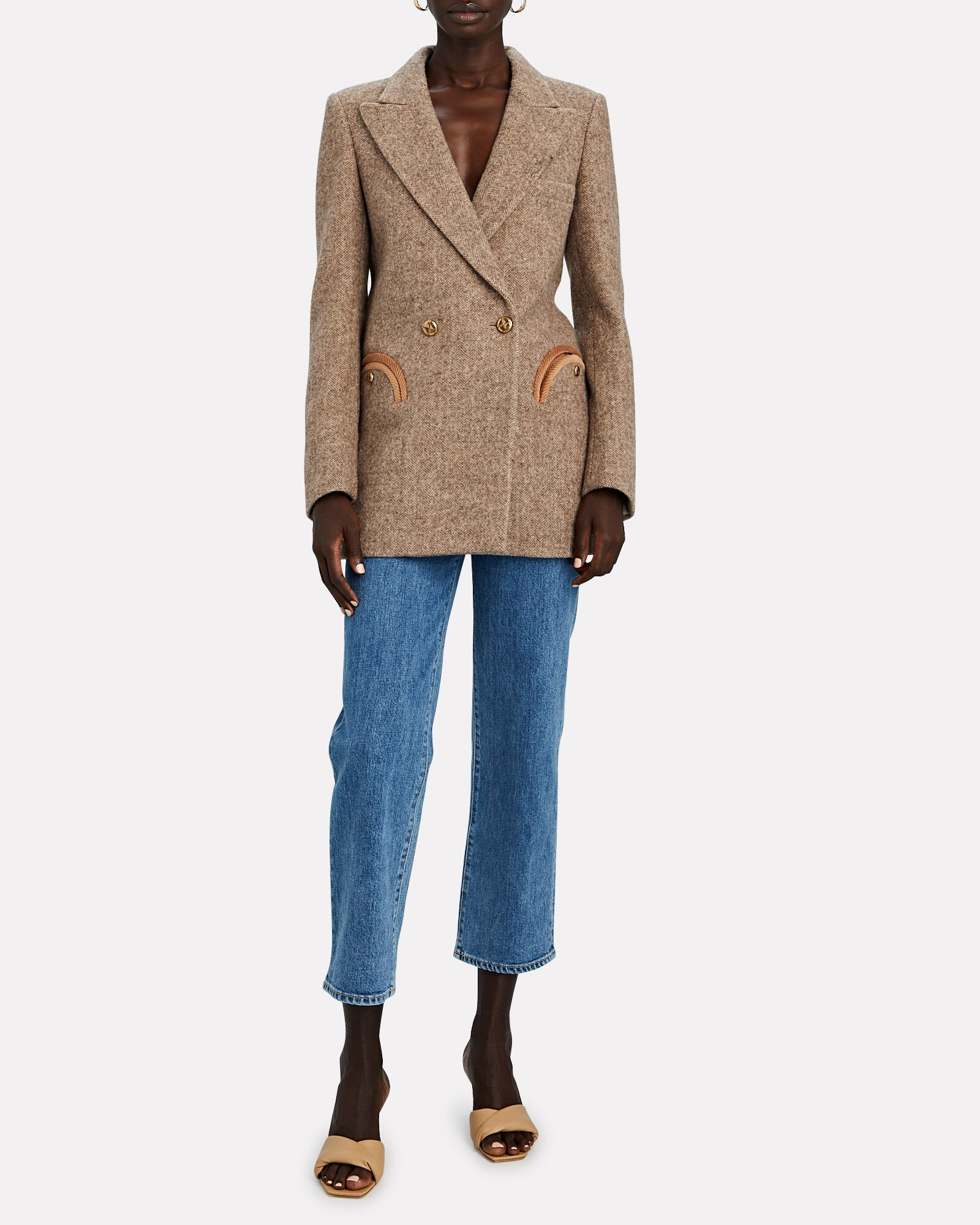 Solandge Everyday Herringbone Blazer, BEIGE, hi-res