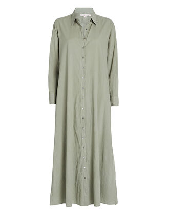 Boden Cotton Midi Shirt Dress, OLIVE, hi-res