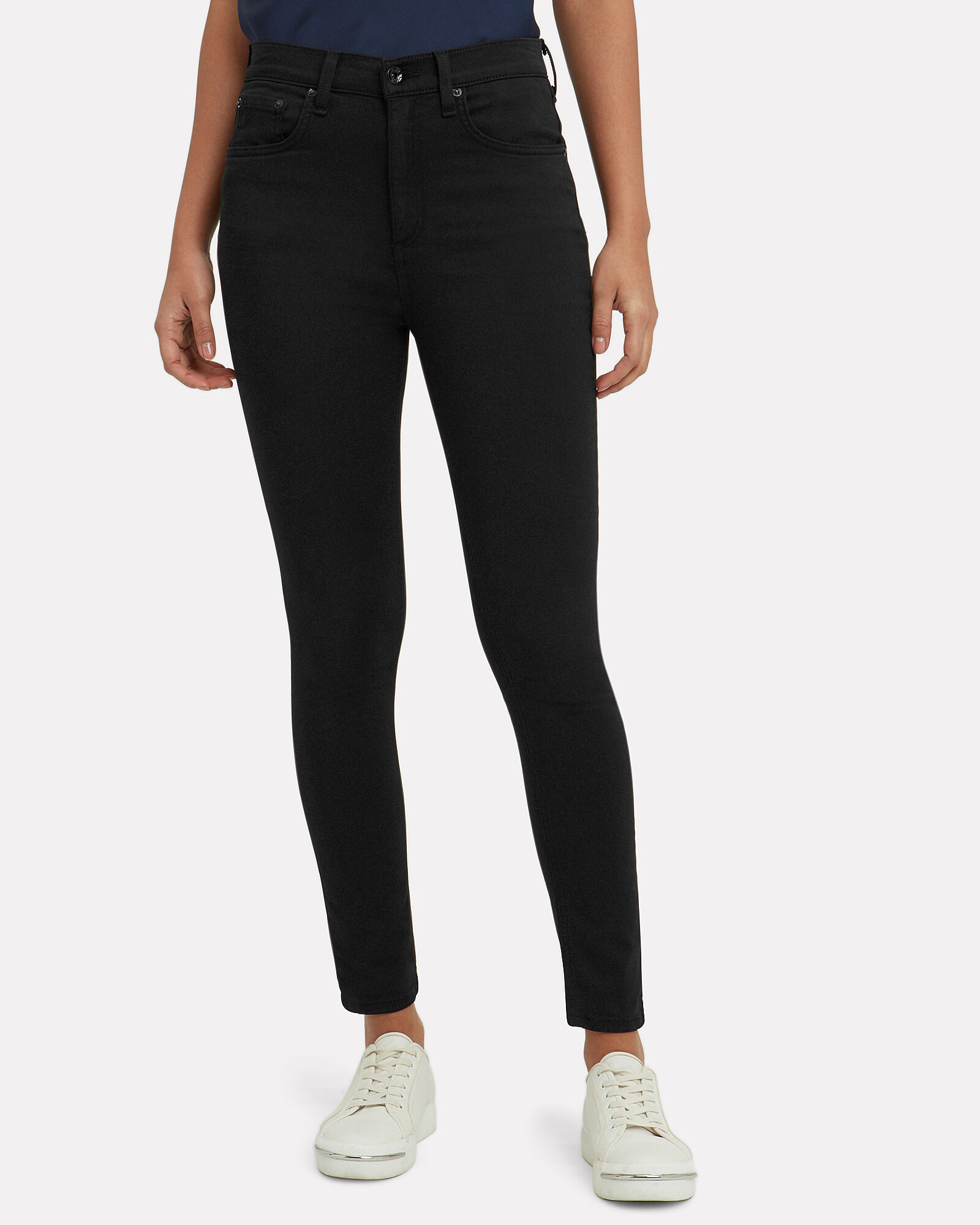 Plush Skinny Jeans, BLACK DENIM, hi-res