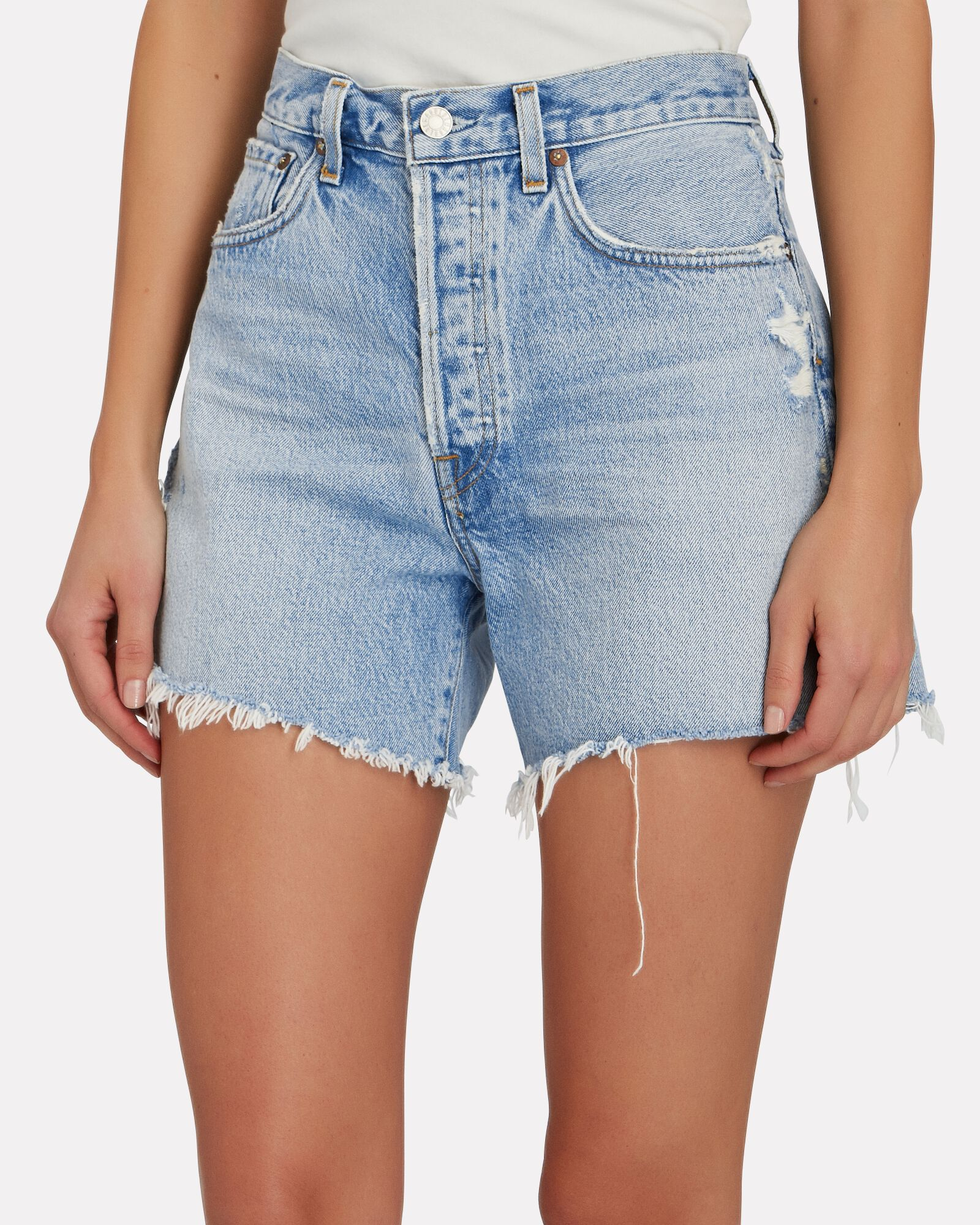 Parker Long Denim Shorts, PARADE, hi-res