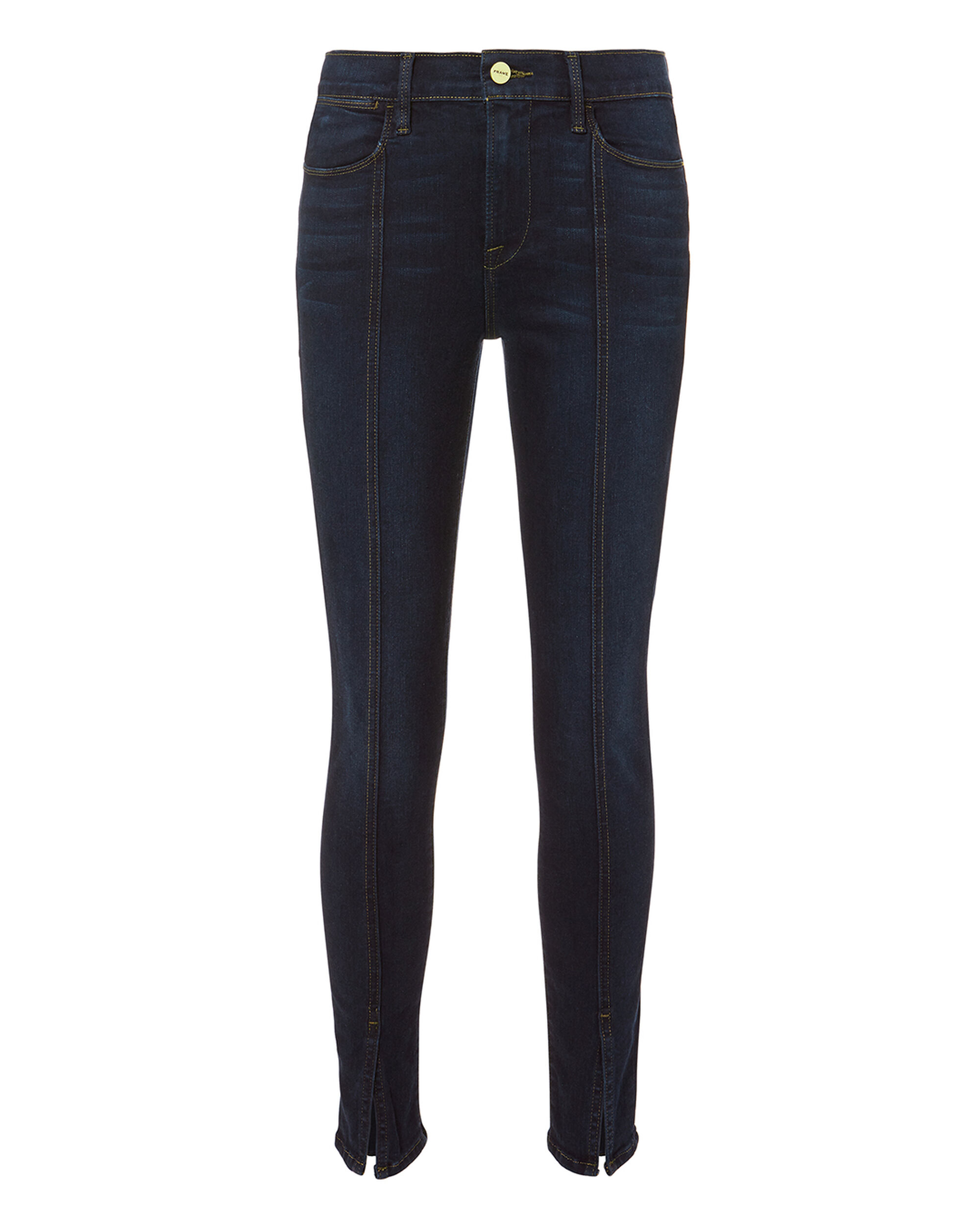 Le High Felt Split Jeans, DENIM-DRK, hi-res