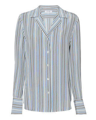 Striped Silk Shirt, MULTI, hi-res