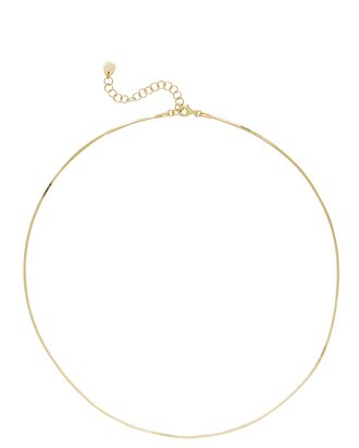 Square Snake Chain-Link Necklace, GOLD, hi-res