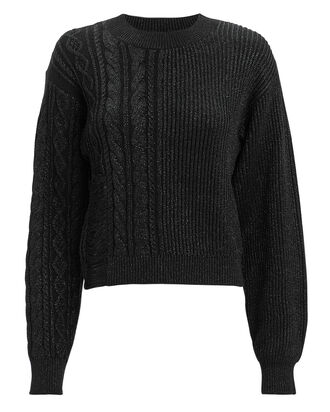 Mia Distressed Sweater, BLACK, hi-res