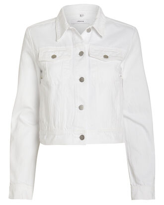 Harlow Denim Jacket, WHITE, hi-res