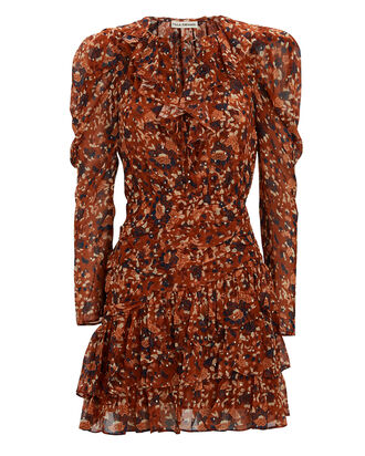 Cecily Lurex Floral Mini Dress, MULTI, hi-res
