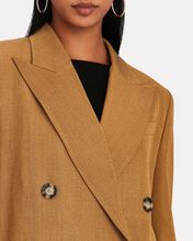 Double-Breasted Suiting Blazer, BEIGE, hi-res