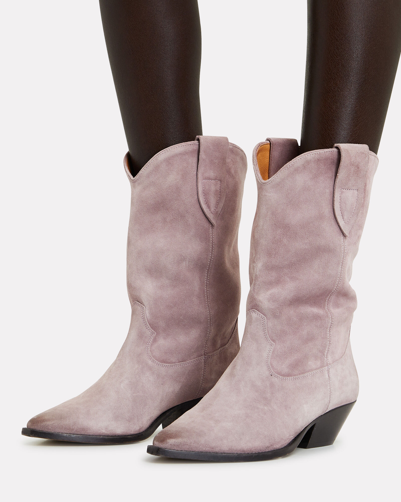 Duerto Suede Western Boots, LIGHT PINK, hi-res