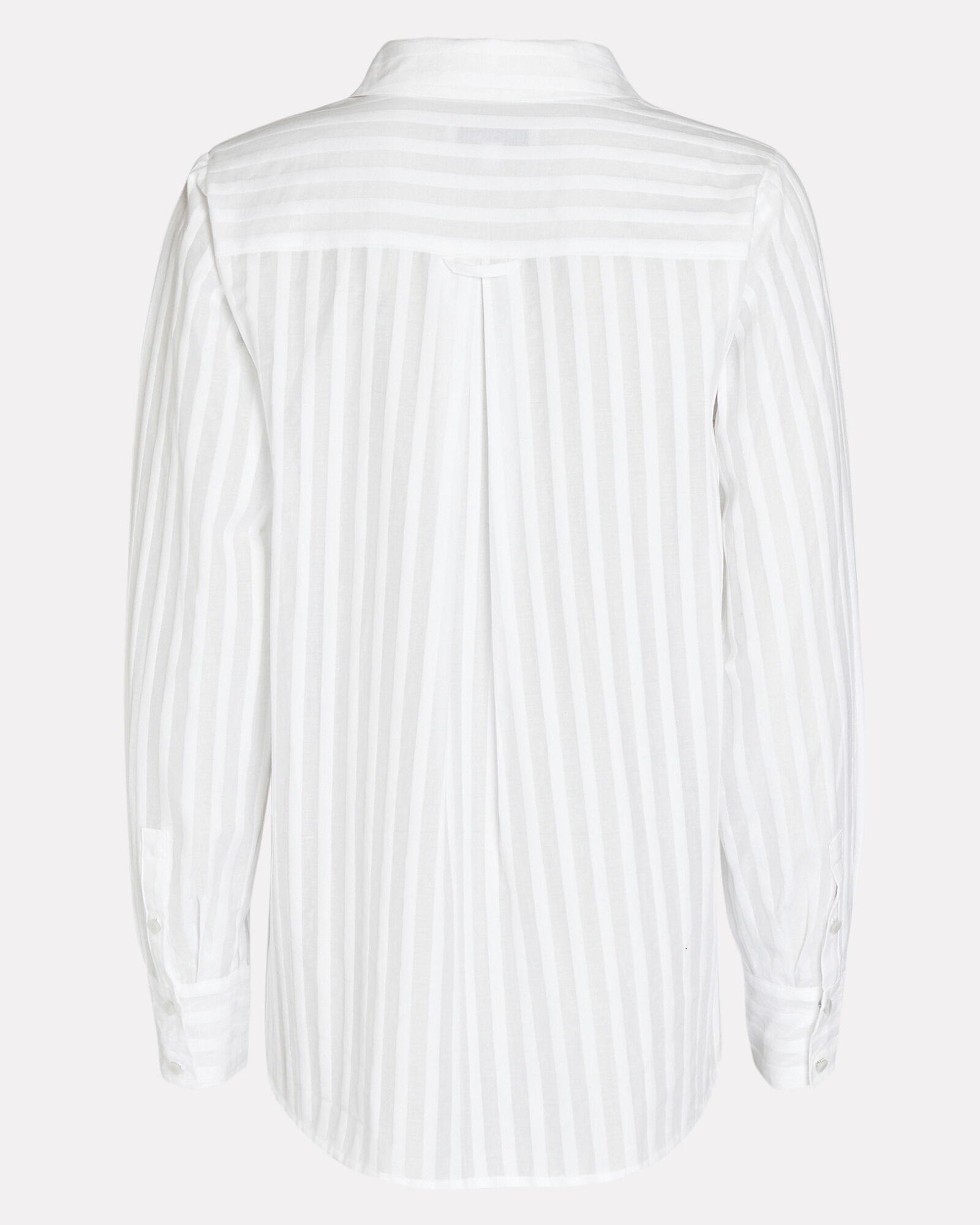 Gretchen Striped Button-Down Shirt, WHITE, hi-res