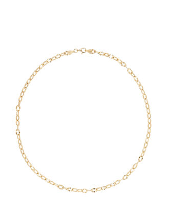 Wavy Link Chain Necklace, GOLD, hi-res