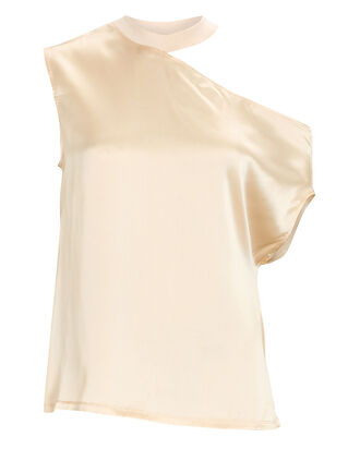 Axel Silk Cut-Out T-Shirt, IVORY, hi-res