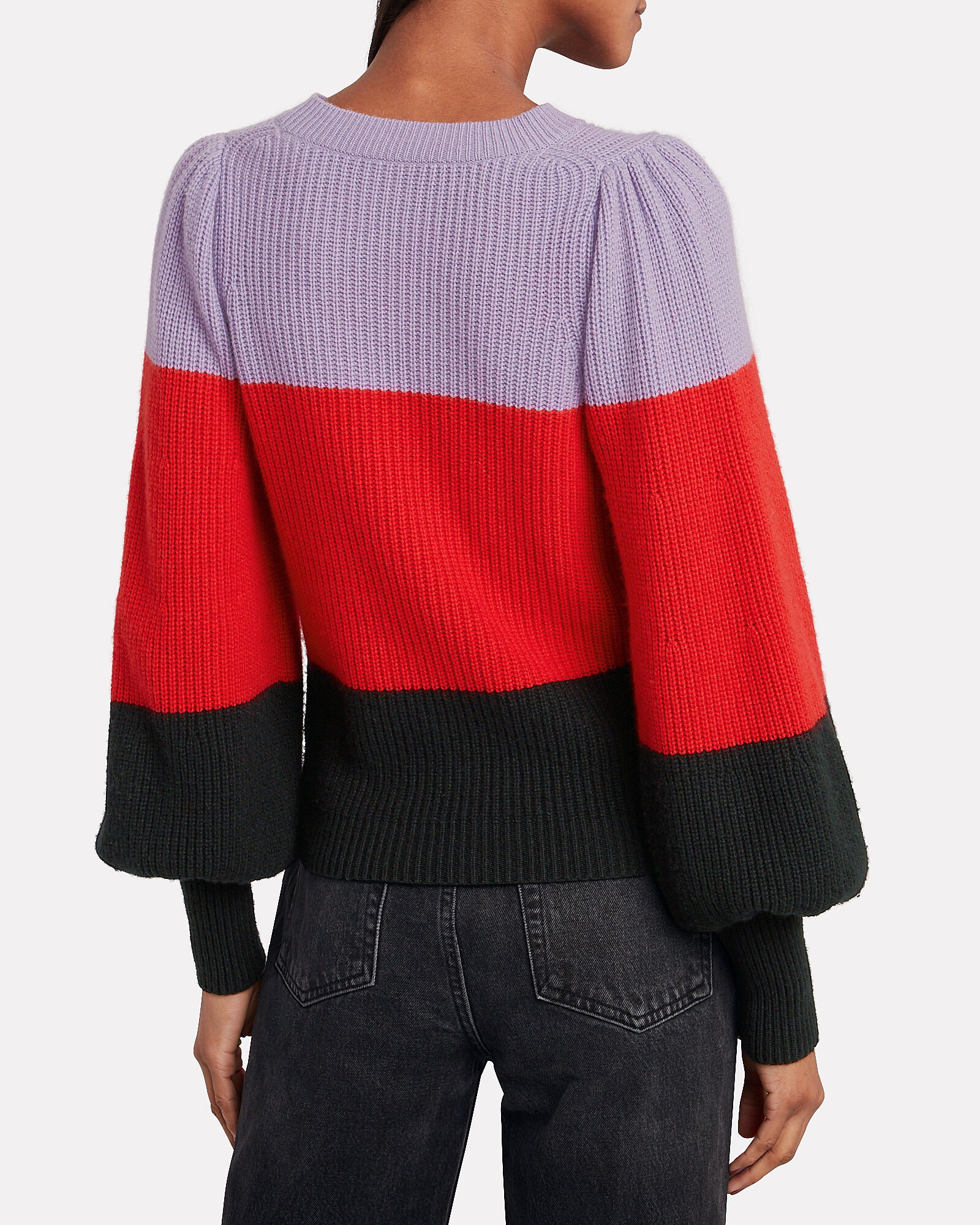 Sammy Colorblock Cashmere-Lambswool Sweater, MULTI, hi-res