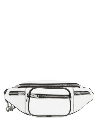 Attica White Fanny Pack, WHITE, hi-res