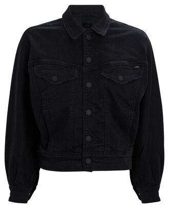 The Fly Away Oversized Denim Jacket, BLACK DENIM, hi-res