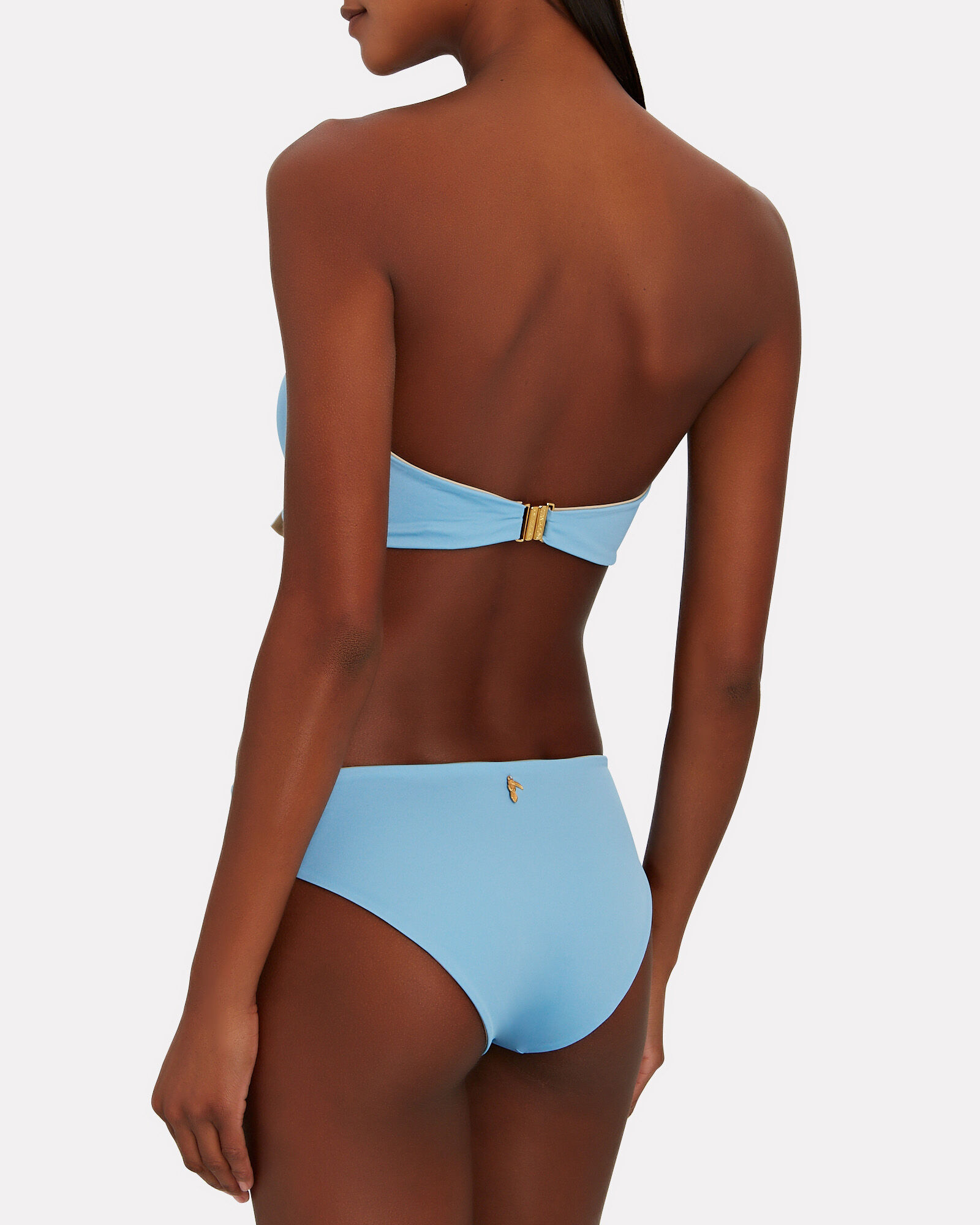 Sunset Waves Reversible Bikini Bottom, BLUE/BEIGE, hi-res