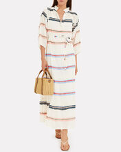 Granada Striped Cotton Maxi Dress, WHITE/STRIPE, hi-res