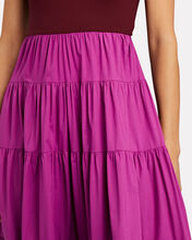 Gage Tiered Colorblock Maxi Dress, RED/PINK, hi-res