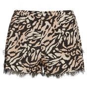 Tiger Silk Shorts, BLACK/BEIGE TIGER, hi-res