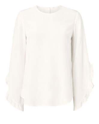 Hera Ruffle Top, WHITE, hi-res