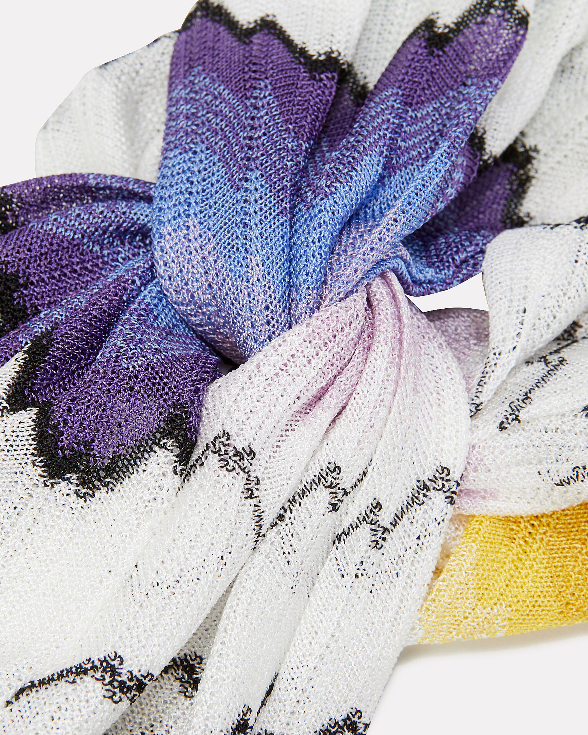 Zig Zag Turban Headband, White/purple, hi-res