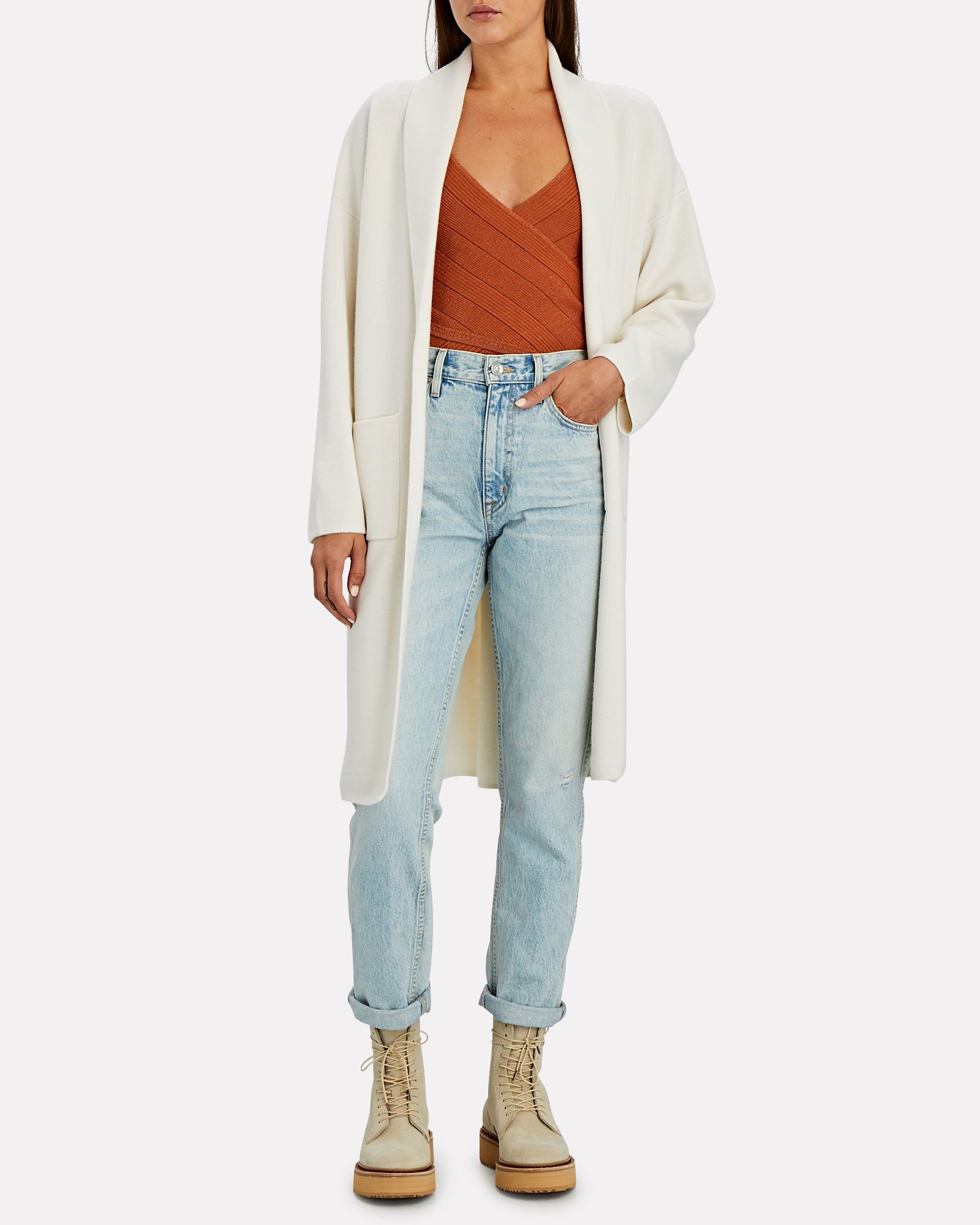 Luka Wool-Cashmere Duster Cardigan, IVORY, hi-res