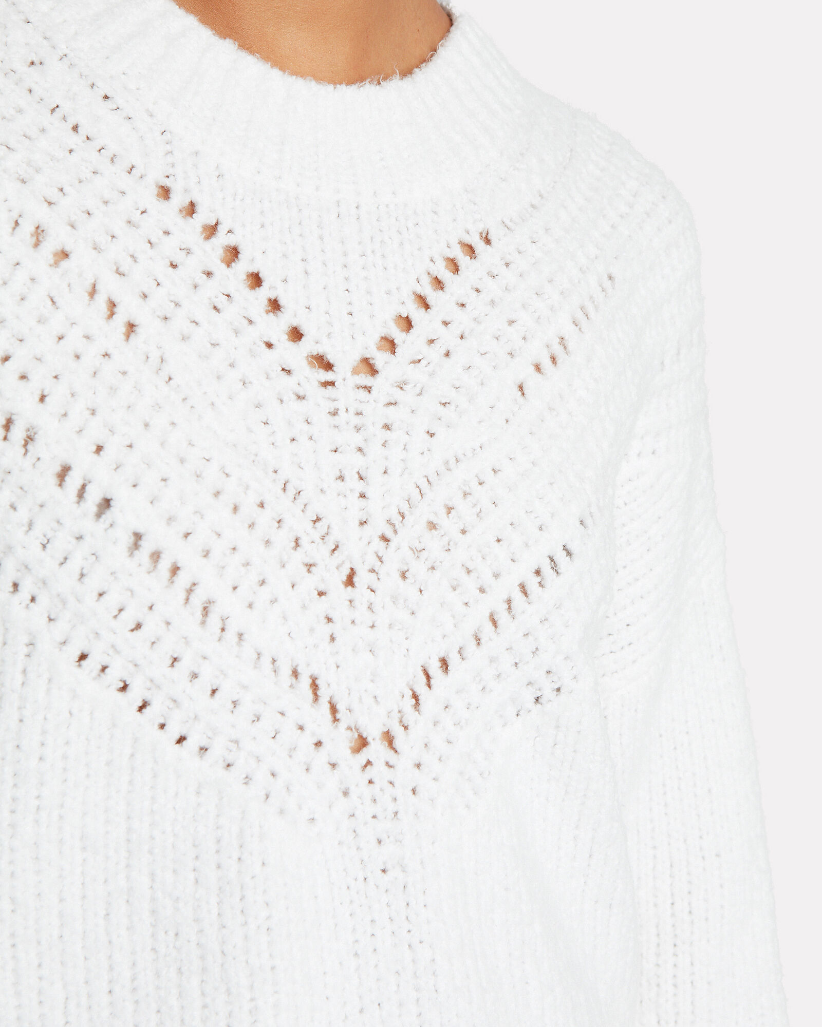 Arresi Cable Knit Sweater, WHITE, hi-res