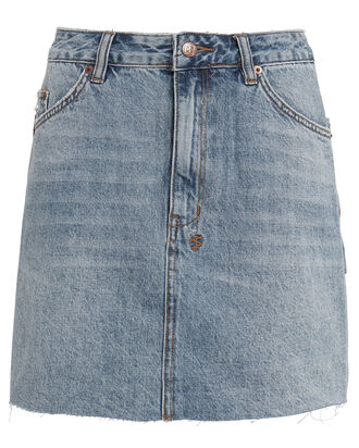 Hi-Line Denim Skirt, MEDIUM WASH DENIM, hi-res