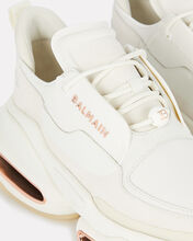 BBold Leather Low-Top Sneakers, WHITE, hi-res