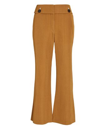 Flared Suiting Trousers, BEIGE, hi-res