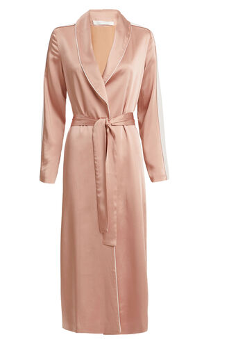 Blush Satin Robe, BLUSH, hi-res