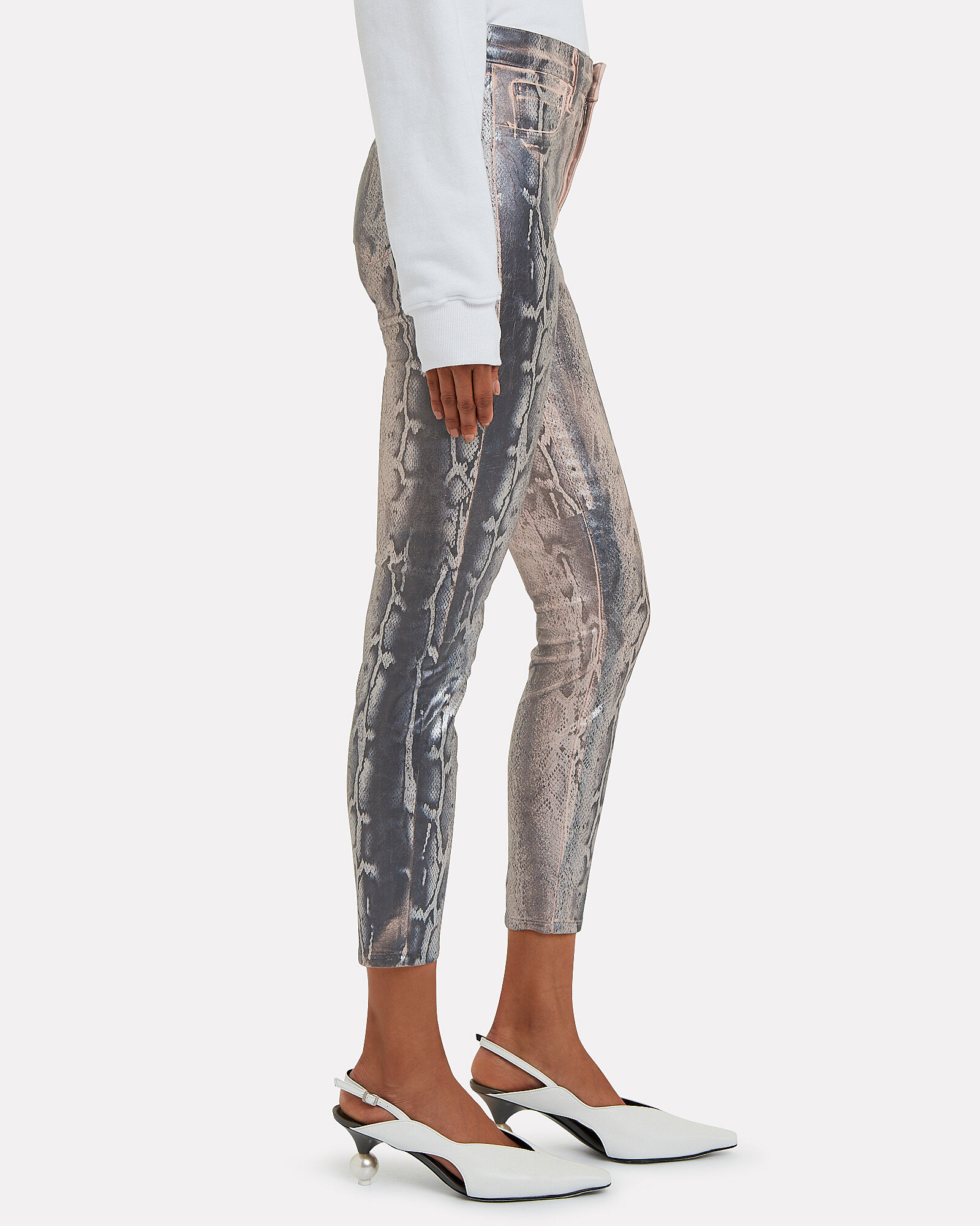 Margot Foiled Python Skinny Jeans, MULTI, hi-res