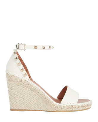 Rockstud Espadrille Wedge Sandals, IVORY, hi-res