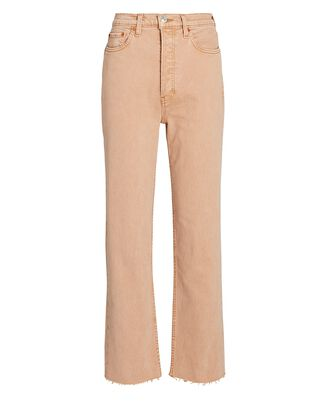 70s Ultra High-Rise Stove Pipe Jeans, WASHED KHAKI, hi-res
